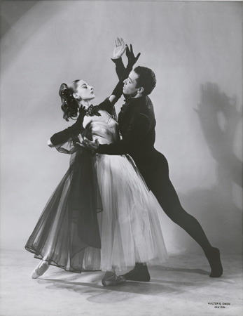 – Tanaquil Le Clercq and Francisco Moncion in George Balanchine's La Valse, 1951 photograph by Walter E. Owens, 1951 exhibition print