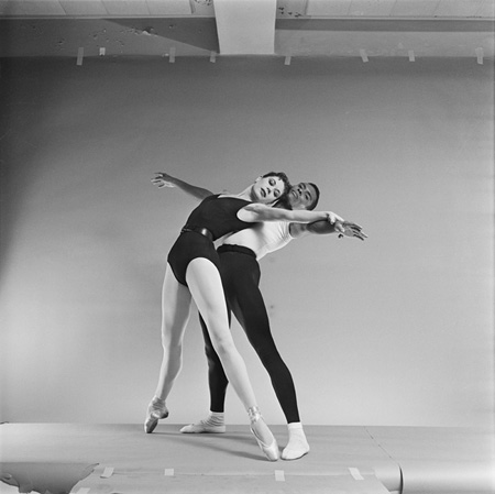 – Diana Adams and Arthur Mitchell in George Balanchine's Agon, 1957 photograph by Martha Swope, 1957 exhibition print