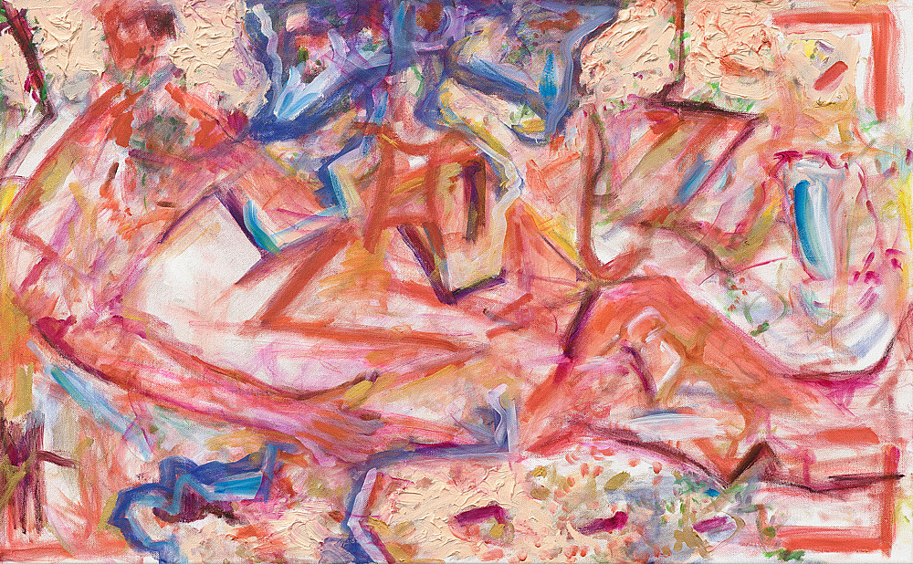 "Jutta Koether – ""Untitled (from the series 'Zodiac Nudes')"", 2016 oil on canvas 50 x 80 cm"