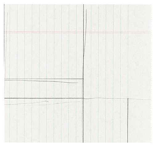 "Michael Krebber – ""Untitled (Flat Finish VII)"", 2016 pencil on paper 16.5 x 17.5 cm"