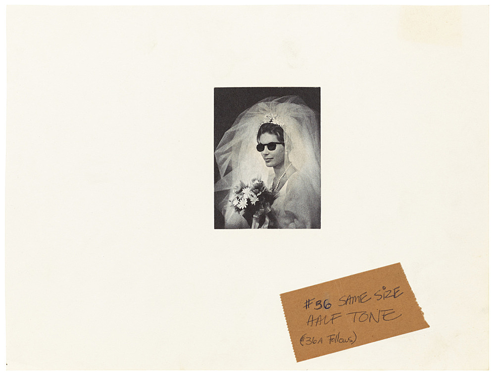 "Mayo Thompson – Drawing for ""Rangoon"", 1970 ink, newspaper collage, ballpoint pen on masking tape 19.5 x 25.5 cm"
