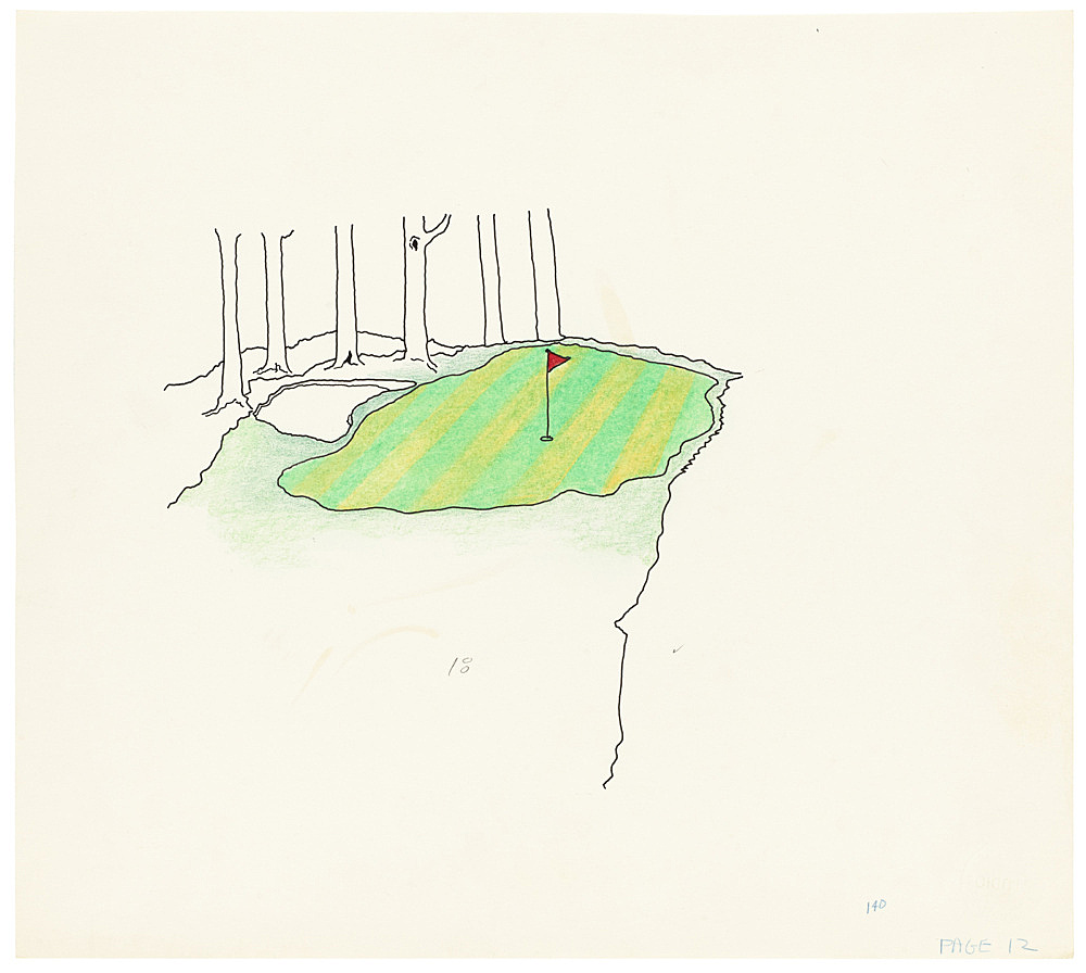 "Mayo Thompson – Drawing for ""Rangoon"", 1970 ink, pencil and colour pencil on paper 24.5 x 27.5 cm"