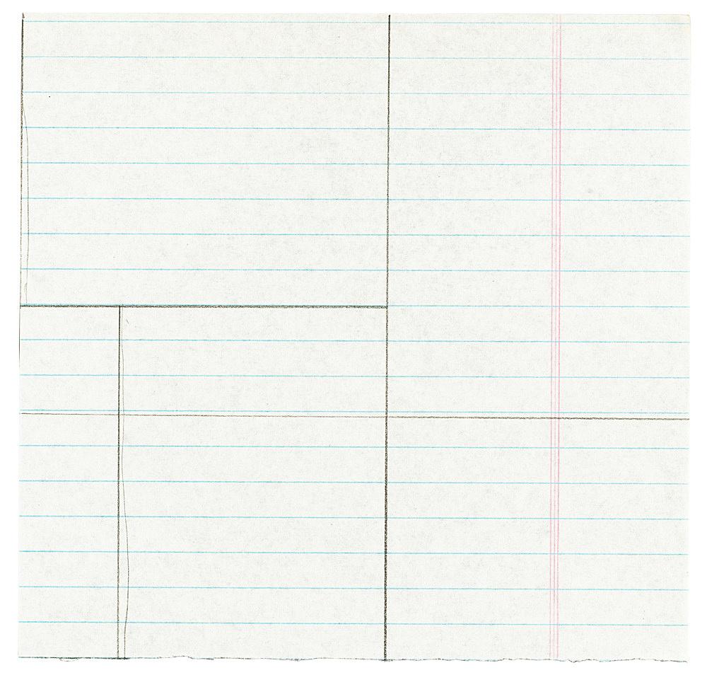 "Michael Krebber – ""Untitled (Flat Finish X)"", 2016 pencil on paper 16 x 16.5 cm"