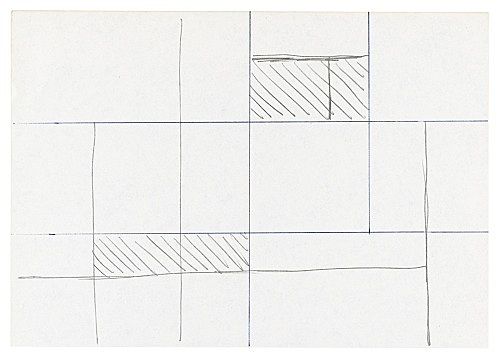 "Michael Krebber – ""Untitled (Flat Finish 13)"", 2016 pen and pencil on paper 145 x 21 cm (framed: 41.5 x 33.5 cm)"