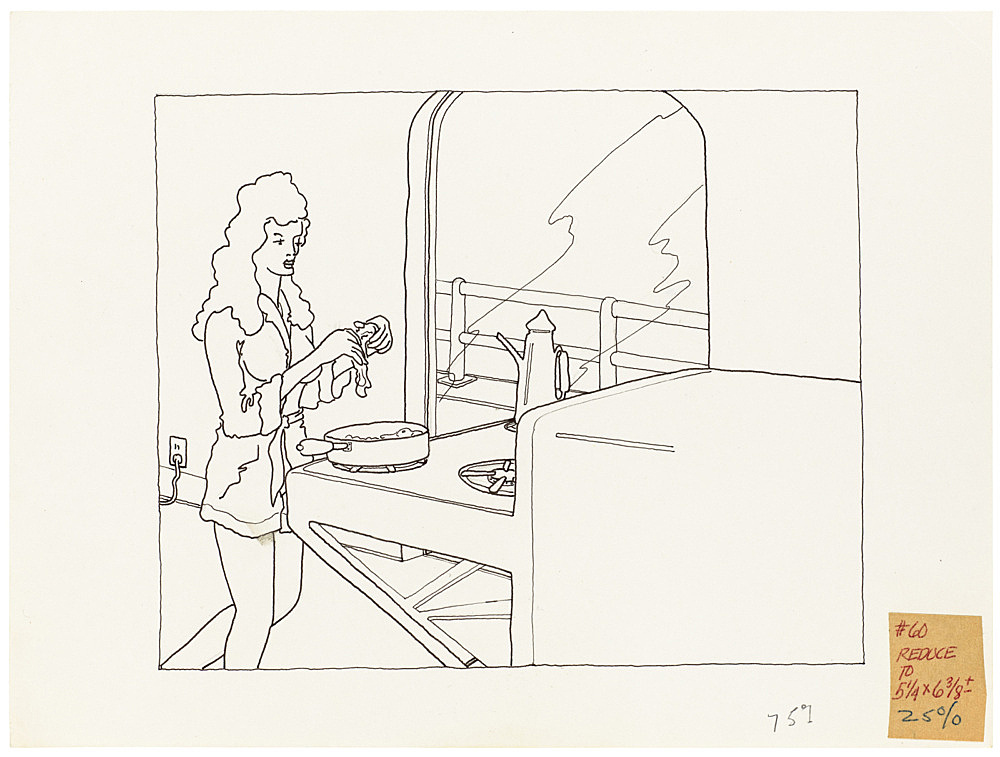 "Mayo Thompson – Drawing for ""Rangoon"", 1970 ink and pencil on paper, ballpoint pen on masking tape 22 x 30 cm"