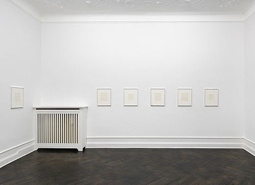 Michael Krebber – Flat Finish installation view Galerie Buchholz, Berlin 2016