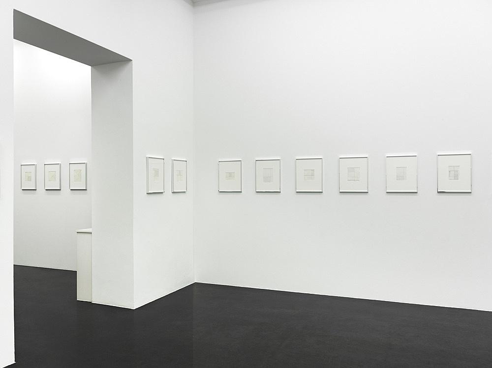 Michael Krebber – Flat Finish installation view Galerie Buchholz, Köln 2016