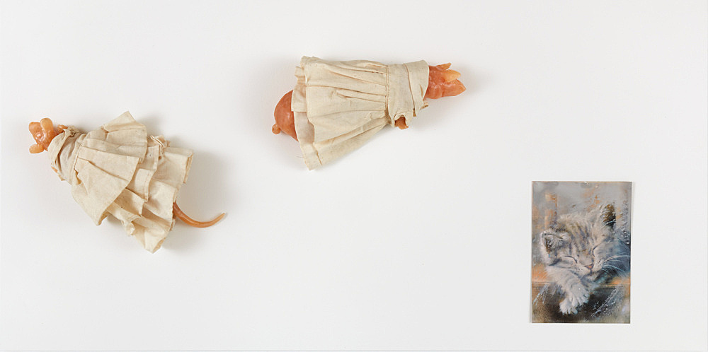 Jochen Klein – Untitled, 1990 wax and muslin 30 x 10 x 12 cm & Untitled, 1990 wax and muslin 30 x 10 x 12 cm & image material from Jochen Klein's studio, n.d. 16.5 x 13.6 cm