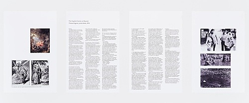 "Thomas Eggerer & Jochen Klein – ""The English Garden in Munich"", 1994 text print-out"