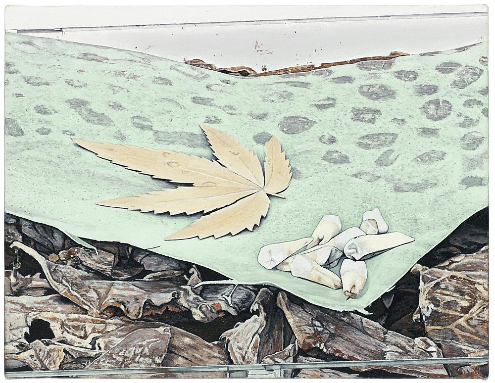 "Caleb Considine – ""Memorabilia"", 2016 oil on canvas 33.2 x 43.8 cm"