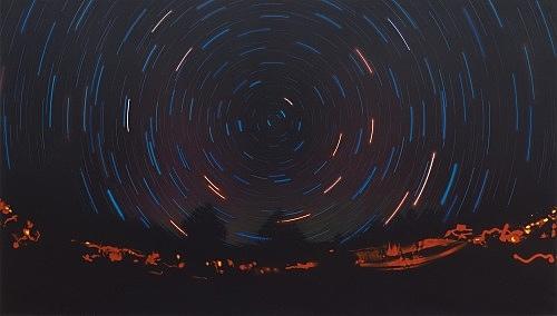 Jack Goldstein – Untitled, 1983 acrylic on canvas 244 x 430 x 5 cm