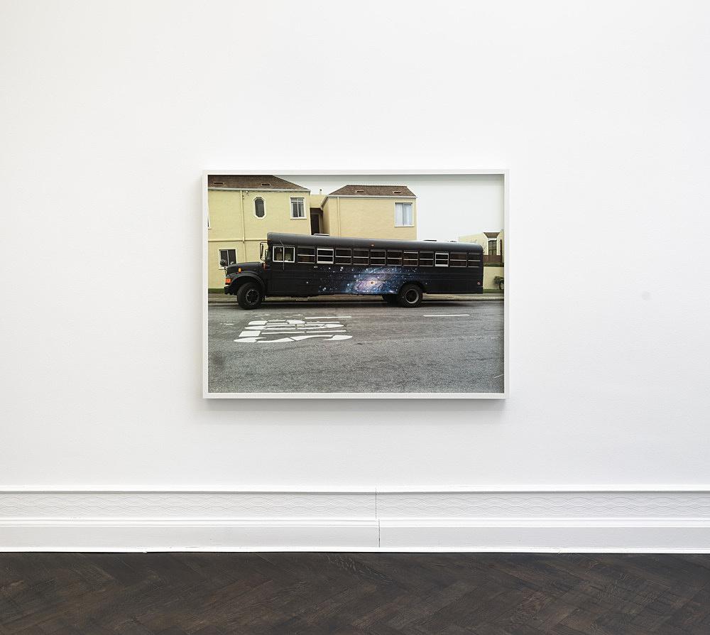 "Lutz Bacher – ""The Bus"", 2011 pigment print, framed 112.5 x 149 x 7.5 cm installation view Galerie Buchholz, Berlin 2017"