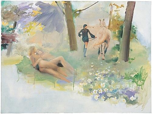 Jochen Klein – Untitled, 1996 oil on canvas 76.5 x 101.5 cm