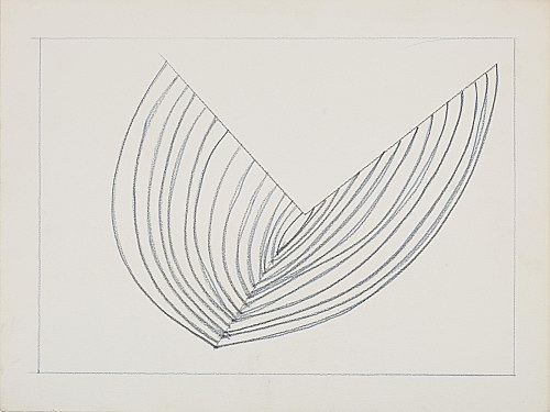"Melvin Edwards – ""Untitled Barbed Wire Study III"", 1970 graphite on paper 46 x 61 cm"