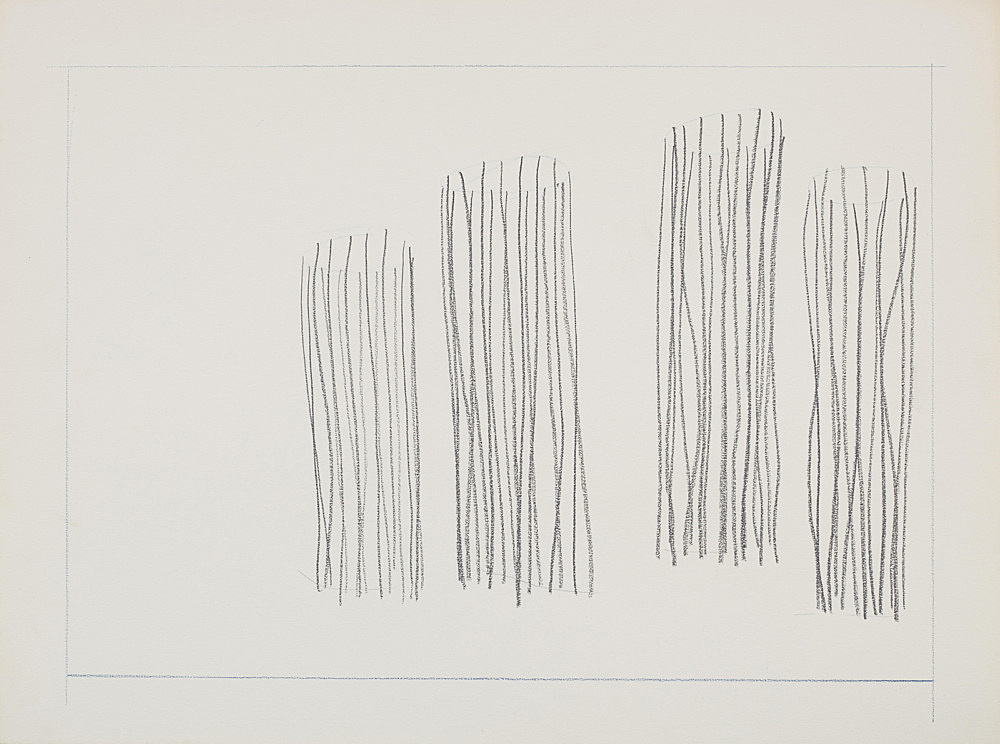 "Melvin Edwards – ""Untitled Barbed Wire Study"", 1970 graphite on paper 46 x 61 cm"