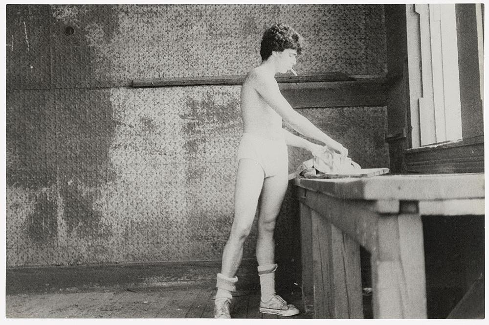 Alvin Baltrop – The Piers (man going through clothing), n.d. (1975-1986) silver gelatin print image size: 18.8 x 28.5 cm paper size: 18.8 x 28.5 cm (framed: 46.4 x 51.2 x 2.8 cm)
