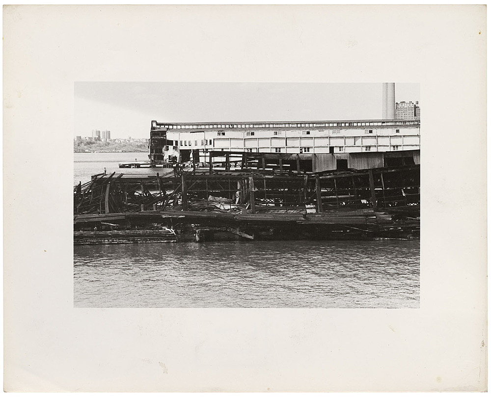 Alvin Baltrop – The Piers (collapsed architecture with figure), n.d. (1975-1986) silver gelatin print image size: 11.7 x 18 cm paper size: 20.1 x 25.3 cm (framed: 35.3 x 40.4 x 2.8 cm)