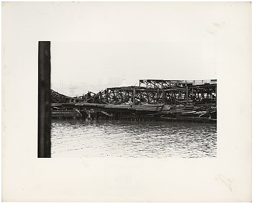 Alvin Baltrop – The Piers (collapsed architecture), n.d. (1975-1986) silver gelatin print image size: 11.7 x 18 cm paper size: 20.2 x 25.3 cm (framed: 35.3 x 40.4 x 2.8 cm)