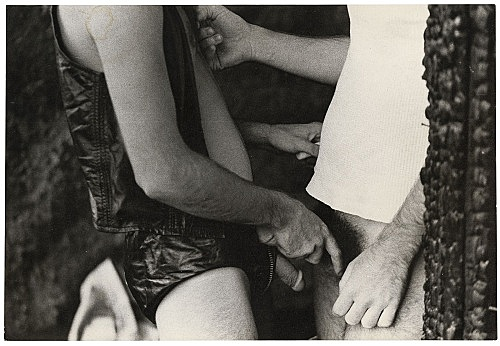 Alvin Baltrop – The Piers (handjob), n.d. (1975-1986) silver gelatin print image size: 11.2 x 16.7 cm paper size: 11.2 x 16.7 cm (framed: 35.3 x 40.4 x 2.8 cm)