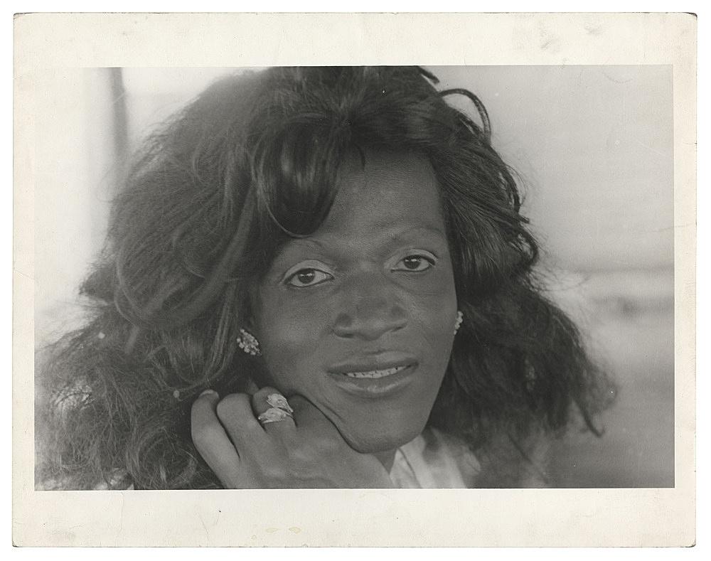 Alvin Baltrop – Marsha P. Johnson, n.d. (1975-1986) silver gelatin print image size: 11.3 x 16.8 cm paper size: 11.3 x 16.8 cm (framed: 35.3 x 40.4 x 2.8 cm)