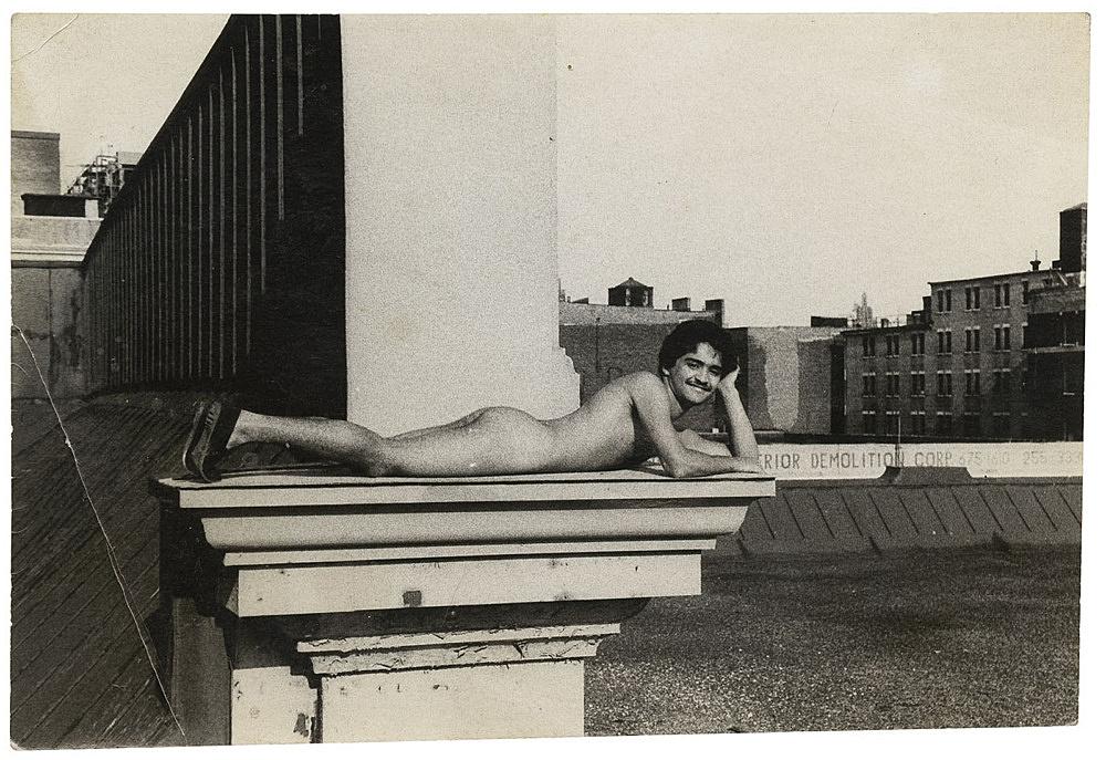 Alvin Baltrop – The Piers (man lying down on ledge), n.d. (1975-1986) silver gelatin print image size: 7.2 x 10.5 cm paper size: 7.2 x 10.5 cm (framed: 35.3 x 40.4 x 2.8 cm)