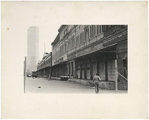 Alvin Baltrop – Pier façade with World Trade Center, n.d. (1975-1986) silver gelatin print image size: 11 x 17.8 cm paper size: 20.3 x 25 cm (framed: 35.3 x 40.4 x 2.8 cm)