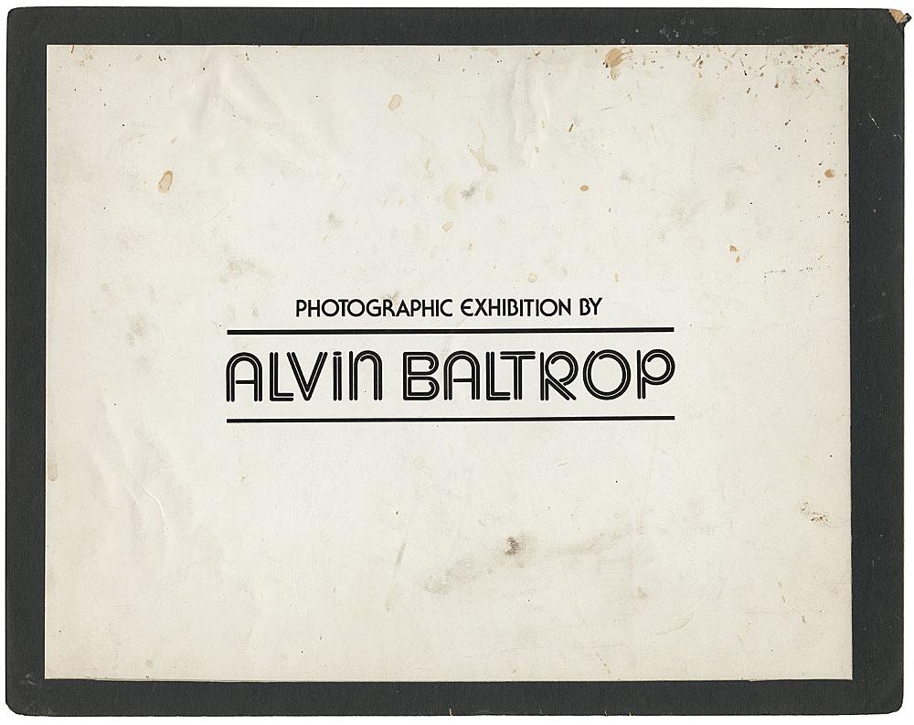 Alvin Baltrop – Title card for Alvin Baltrop's exhibition at The Glines, 1977 print size: 25 x 31.8 cm mat size: 27.9 x 35.6 cm