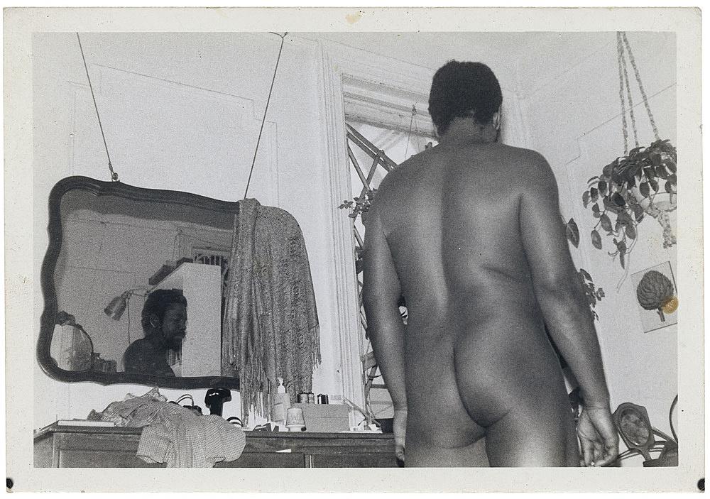 Alvin Baltrop – Self-portrait (looking away), n.d. (1975-1986) silver gelatin print image size: 7.9 x 11.7 cm paper size: 8.7 x 12.7 cm (framed: 35.3 x 40.4 x 2.8 cm)