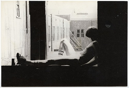 Alvin Baltrop – The Piers (man sitting on windowsill), n.d. (1975-1986) silver gelatin print image size: 11.8 x 17.2 cm paper size: 11.8 x 17.2 cm (framed: 35.3 x 40.4 x 2.8 cm)