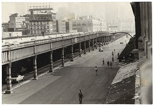Alvin Baltrop – West Side Highway and pier façade, n.d. (1975-1986) silver gelatin print image size: 11.5 x 17 cm paper size: 11.5 x 17 cm (framed: 35.3 x 40.4 x 2.8 cm)