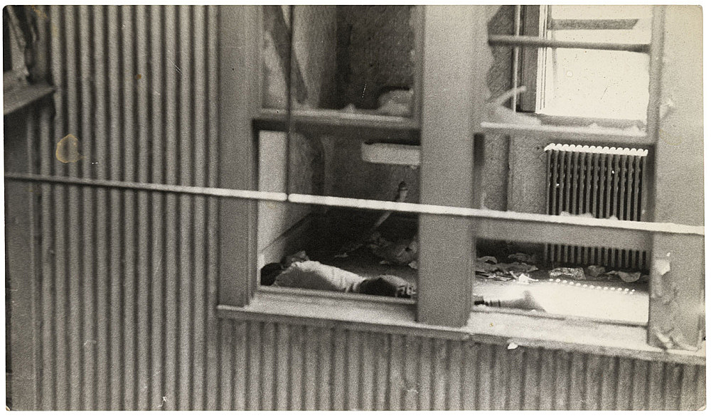 Alvin Baltrop – The Piers (man lying in room), n.d. (1975-1986) silver gelatin print image size: 11.4 x 20 cm paper size: 11.4 x 20 cm (framed: 35.3 x 40.4 x 2.8 cm)