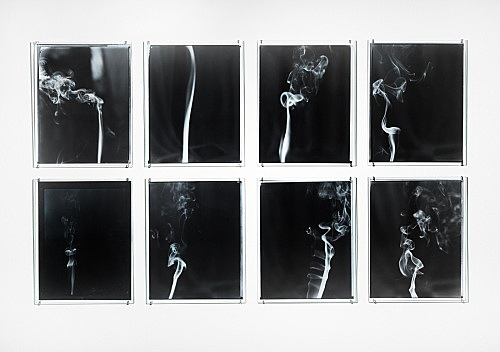"Jason Simon – ""Untitled (Spirits)"", 1996 8 gelatin silver prints hand-toned with oil-based pigment each 35.6 x 27.9 cm"