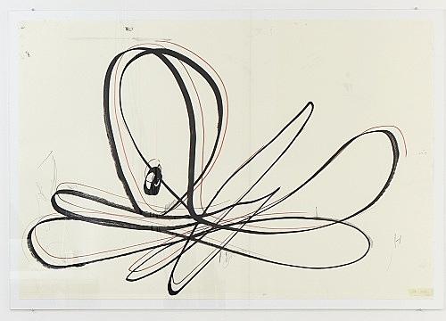 Eliza Douglas Anne Imhof – H. Octopus, 2017 acrylic, felt tip pen on paper 70 x 100 cm