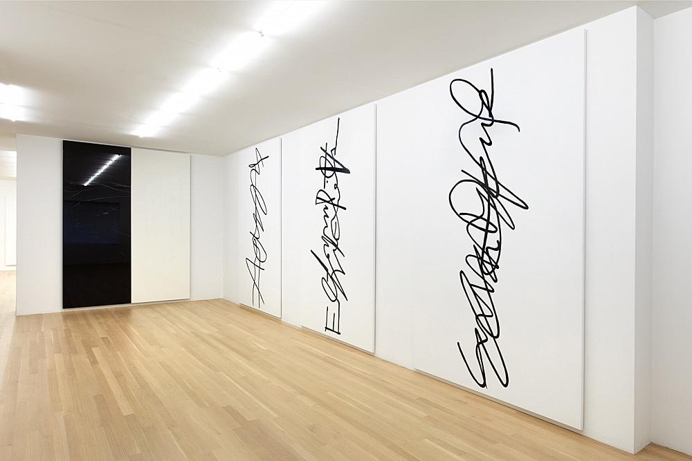 Eliza Douglas Anne Imhof – installation view Galerie Buchholz, New York 2017