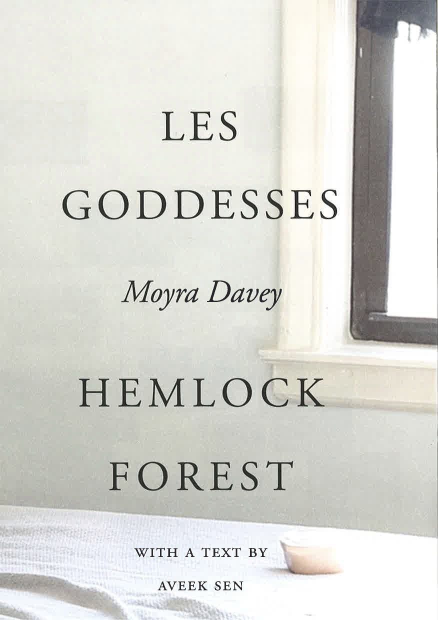 "Moyra Davey – ""Les Goddesses / Hemlock Forest"" 2017, 125 pages, fully illustrated in color and b/w, Owrps, 24 x 16 cm USD 29.95,- – This latest book by the artist Moyra Davey is based on two related group of works, Les Goddesses (2011) and Hemlock Forest (2016), which each take form through text, photography, and film. Layering introspection and personal narratives with meditations on the lives and works of other writers, filmmakers, and artists—ranging from 18th-century feminist writer and activist Mary Wollstonecraft to Chantal Akerman, and Moyra Davey's own five sisters. The book is conceived and published in collaboration with the artist and Dancing Foxes Press. The book contains, alongside numerous reproductions, an introductory text by Aveek Sen and transcriptions of the texts for both film projects by the artist."