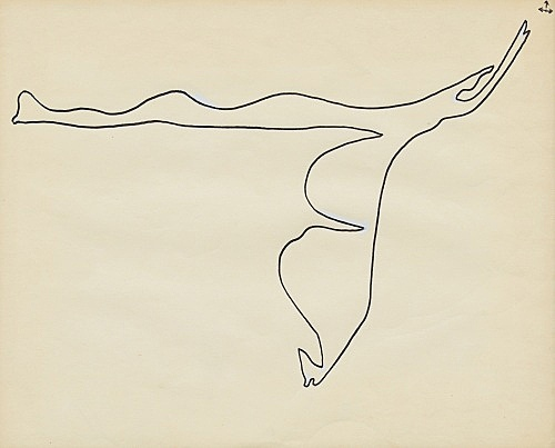 "Öyvind Fahlström – ""Improvisation for Nightmusic"", ca. 1975 ink on paper 19 x 23 cm"