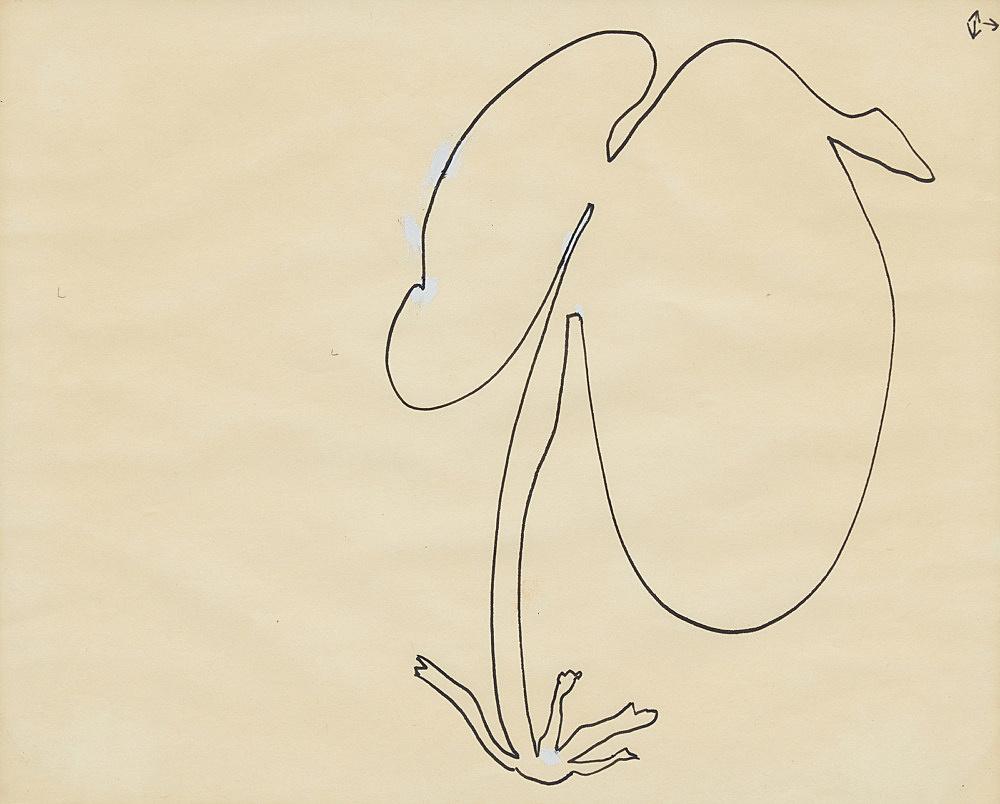 "Öyvind Fahlström – ""Improvisation for Nightmusic"", ca. 1975 ink on paper 19 x 23 cm"