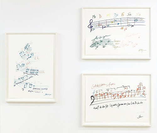 Karlheinz Stockhausen – Untitled, n.d. felt pen on paper 3 works, each 62 x 45 cm