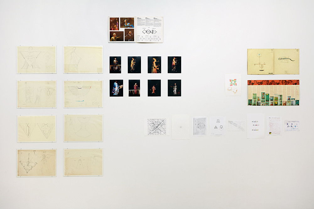 – Rogério Duarte Karlheinz Stockhauen Mary Bauermeister installation view Galerie Buchholz, New York 2017
