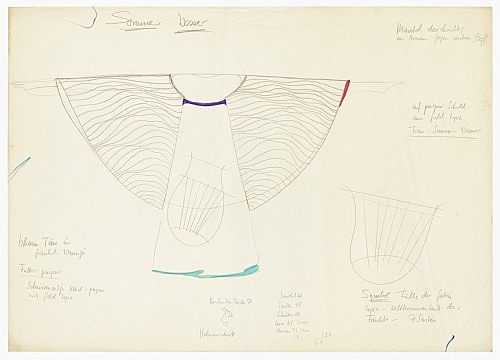 "Mary Bauermeister – costume design for Karlheinz Stockhausen, ""Sirius"", n.d.