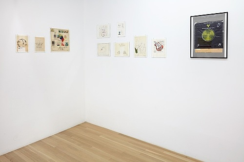 Emil Schult – works on paper, 1971-1977 installation view Galerie Buchholz, New York 2017