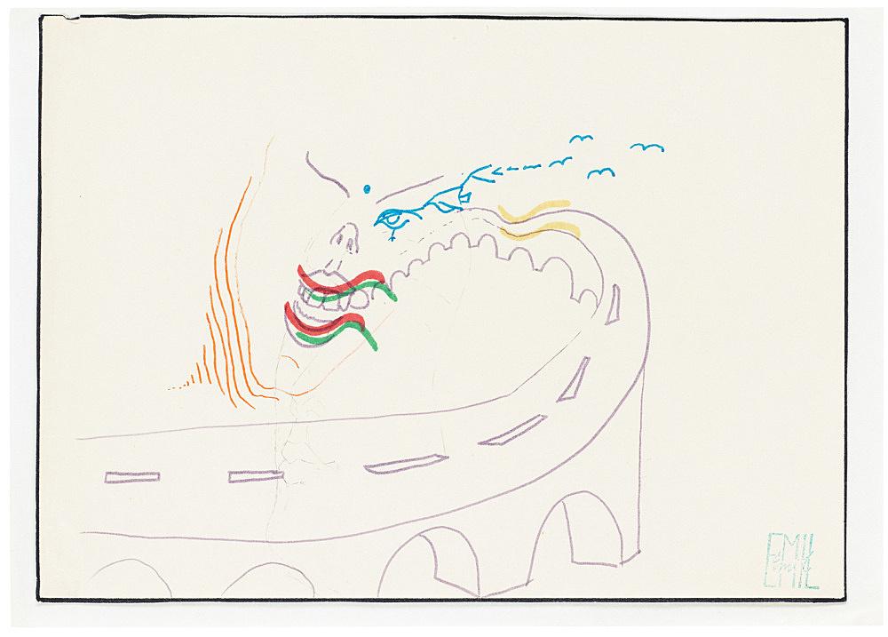 Emil Schult – Untitled, 1973-74 felt pen on paper 21 x 29.7 cm