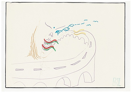 Emil Schult – Untitled, 1973-74 felt pen on paper 21 x 29.7 cm