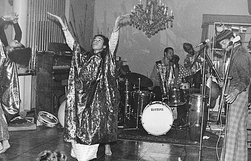 Hartmut Geerken – photograph of Sun Ra Arkestra performing at Heliopolis/Egypt, December 12, 1971