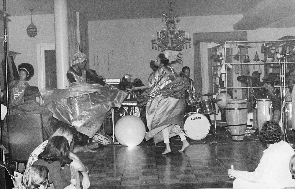 Hartmut Geerken – photograph of Sun Ra Arkestra performing at Heliopolis/Egypt, December 12, 1971