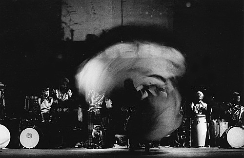 Hartmut Geerken – photograph of Sun Ra Arkestra performing at Balloon Theater, Cairo, December 17, 1971