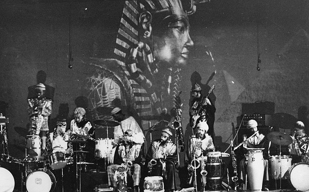 Hartmut Geerken – photograph of Sun Ra Arkestra performing at Balloon Theater, Cairo, December 17, 1971