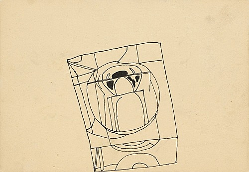 Ludwig Gosewitz – Untitled, 1968 ink on paper 14.9 x 21.4 cm