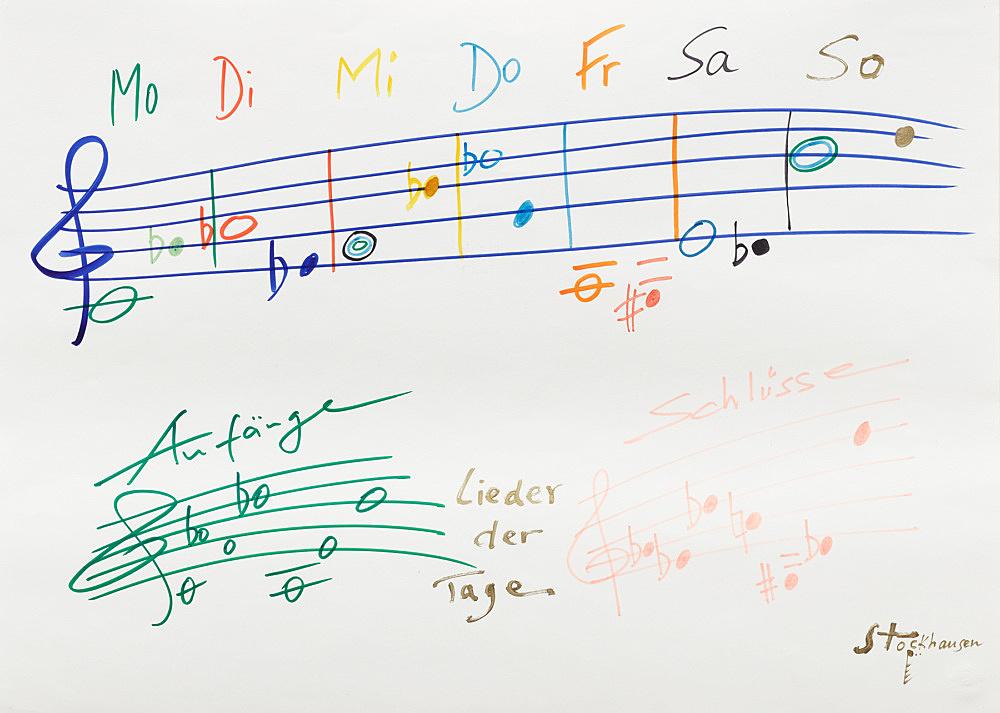 Karlheinz Stockhausen – Untitled, n.d. felt pen on paper 62 x 45 cm