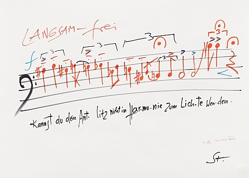 Karlheinz Stockhausen – Untitled, n.d. felt pen on paper 62 x 45 cm